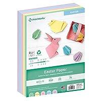 Printworks イースターカラー用紙 5色 アソートカラー ホリデー学校やクラフトプロジェクトに最適 300枚 8.5インチ x 11インチ (00586)