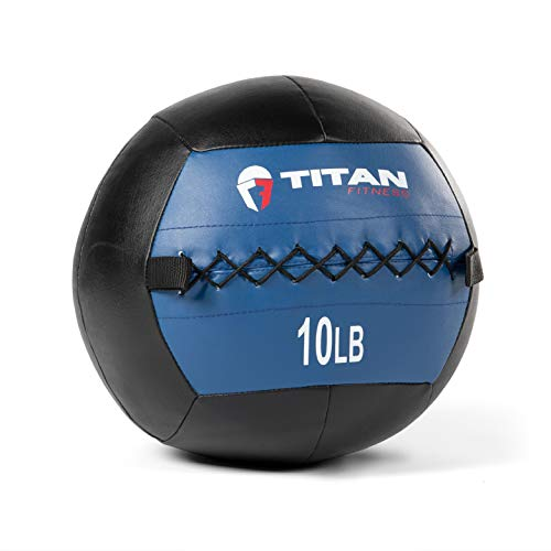 Titan Fitness 10 LB Wall Medicine Ball Core Workout Cardio Muscle Exercises Strength
