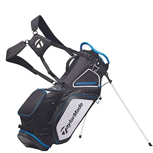 TaylorMade pro Series 8.0 Doppel Gurt Golf Ständer Tragetasche/Neu 2020 Modell - Schwarz/Weiß/Blau