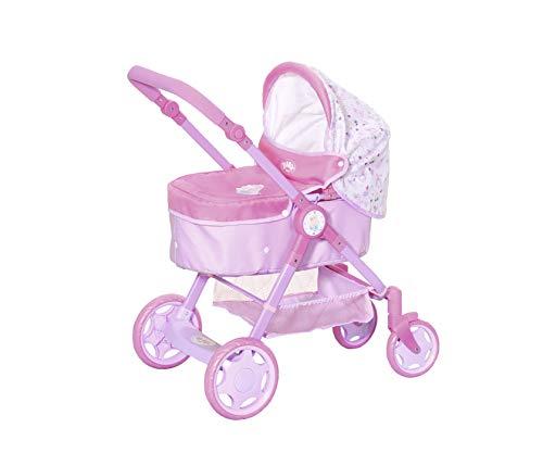 Zapf Creation 826386 BABY born Baby Evolve Puppenwagen mit 6-in-1 Funktion, schnell und einfach umbaubar, Puppenzubehör