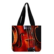 Angelinana Fashion Cello Music Instrument Printed Canvas Girl And Women Shopping Bag Tote Bag (Two Sides)