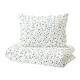 IKEA Mojlighet 904.236.94 - Funda de edredón y fundas de almohada, diseño de mosaico blanco