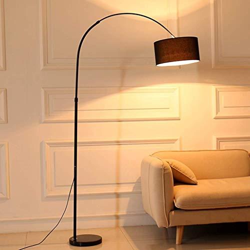 Lámpara de pie arqueado, rústica lámpara de pie, lámpara de pesca, altura ajustable de cuerpo de la lámpara y la cortina de la tela de arpillera, for sala de estar de lectura del dormitorio Ministerio