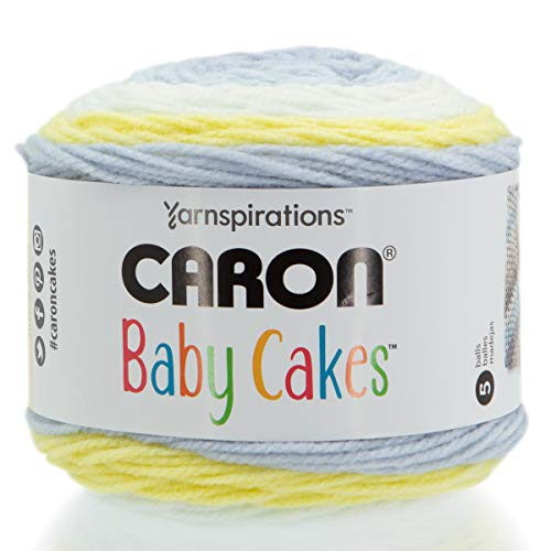 Caron Baby Cakes Self-Striping Yarn ~ 3.5 oz Cakes by the Each (Sunny Day)