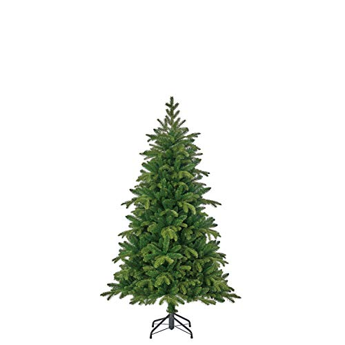 Black Box Trees Brampton kerstboom slim groen TIPS 974-h155xd102cm, Pvc/Pe, 155