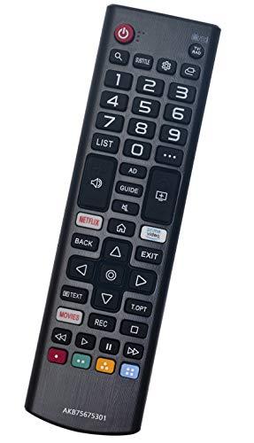 ALLIMITY AKB75675301 Sub AKB75675311 Mando a Distancia Reemplazar por LG LED HDR TV with Netflix 49UM7400 55UM7000 55UM71007 55UM7100 55UM7400 60UM71007 60UM7100 65UM7000 65UM7100 65UM7400 70UM7100