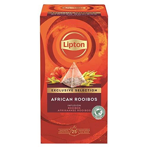 Lipton Afrikanischer Rooibos Tee Pyramidbeutel (mit Vanillearoma und Hibiskus) 2er Pack (2 x 25 Teebeutel)