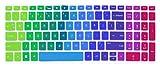 Silicone Keyboard Cover Skin for for 15.6' HP Pavilion x360 15-br075nr, Pavilion 15-cc 15-cb Series 15-cc010nr 15-cb010nr, HP Envy x360 15m-bp 15m-bq Series, HP Envy 17.3' 17m-ae011dx (Rainbow)