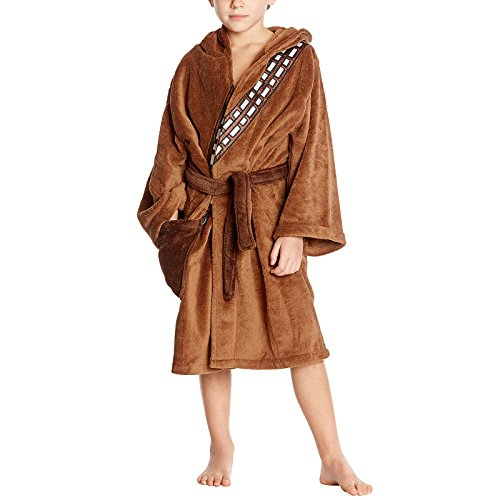 Star Wars Chewbacca Kinder Bademantel braun - 7/9 Jahre