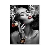 壁の芸術の写真現代の黒人白人女性キャンバス絵画ポスターと印刷壁の芸術の写真リビングルームの装飾60x90cmx1pcsフレームなし