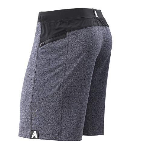 "Anthem Athletics Hyperflex 9"" Workout Training Gym Shorts - Iron Rhino Grey G2 - Medium"