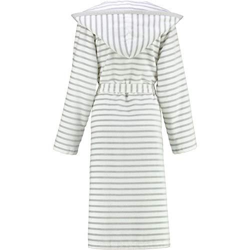 Michaelax-Fashion-Trade Cawö - Damen Bademantel mit Kapuze (6596), Größe:38, Farbe:Silber (76)