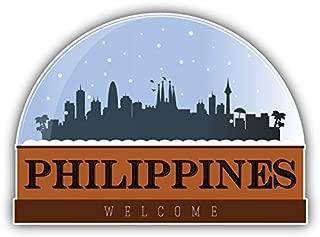 Philippines Snow Globe Art Decor Bumper Sticker 5'' x 4''