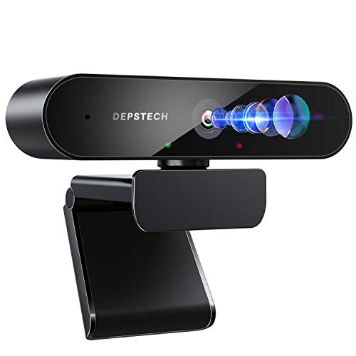 Cámara web con micrófono, DEPSTECH 2K QHD USB cámara web con corrección de luz automática, computadora portátil de escritorio cámara de streaming para videoconferencias, enseñanza, streaming y juegos (D09-2020V)