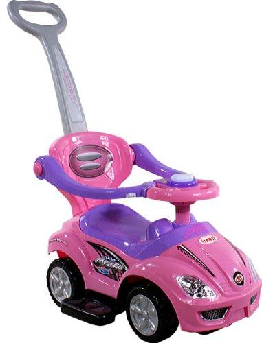 BSD Baby Spielzeugauto 381 Mega Car Deluxe Pink Rosa Lauflernhilfe Lauflernwagen Kinderfahrzeuge