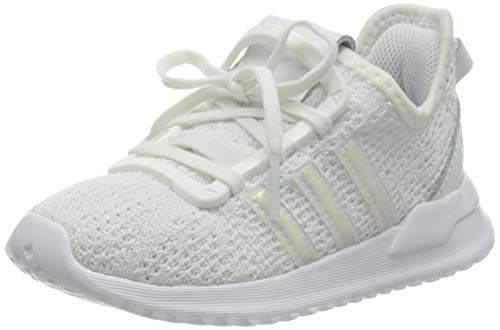 adidas Originals Unisex Babies U_Path Run Sneaker, Footwear White/Footwear White/Core Black, 8 UK