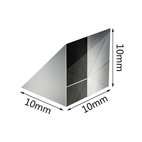rosemaryrose 10mm 10mm 10mm Optisches Glas Dreieckige Prismen Rechtwinklige gleichschenklige Prismen Linse Optisches K9 Glas Materialprüfgerät