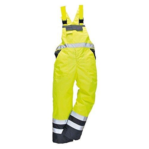 Stormway® Hombres Alta Visibilidad Contraste Pechera Tirantes Impermeable Ropa De Trabajo ulined Mono Pantalon Peto