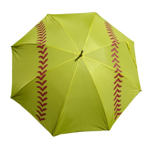 Baseball or Softball Slow Pitch Fast Pitch Girls Boys Golf Umbrella 60 inch arc (Yellow)
