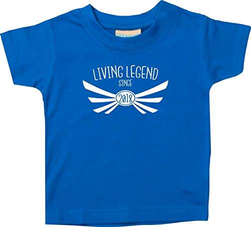T-Shirt Enfants Living Legend Since 2018 - Royal, 0-6Monate