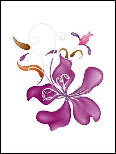 Fliesenaufkleber Fliesentattoos für Bad & Küche - Küchenfliesen für einzelne Fließen 15x20 cm - MF326 - schöne Orchidee
