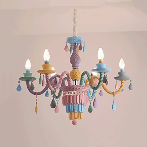 JEONSWOD LED E14 Postmoderno Nódico Iron Crystal Crystal Chandelier Light Light Light Light LED for Kid's Foom Kindergarten