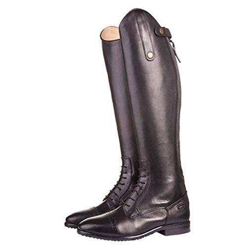 HKM Valencia, Stivali da Equitazione Unisex-Adulto, Nero/Grigio, 39 EU