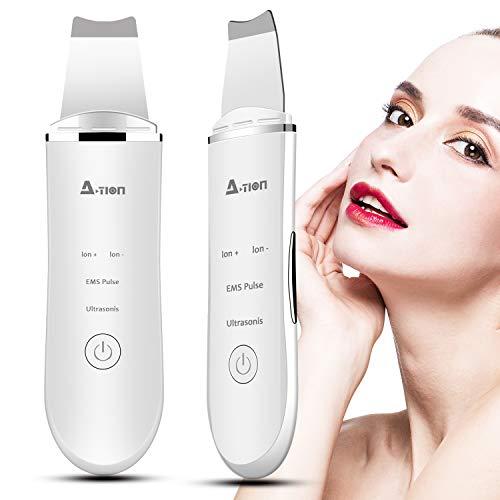 Skin Scrubber, 2NLF Ultrasonic Face Skin Scrubber, 4 In 1 Peeling Pore Cleaner Pala Blackhead Scrubber per La Pelle del Viso,Remover Detergente per La Pelle di Ioni per Pulizia Viso Facial Care