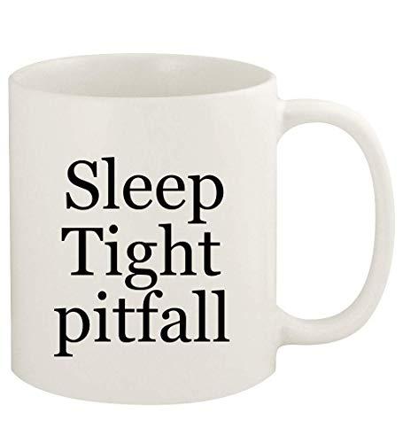 Sleep Tight pitfall - Taza de café de cerámica blanca de 325 ml, color blanco