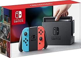 Nintendo Switch 32GB Console Video Games w/ 32GB Memory Card | Neon Red/Neon Blue Joy-Con | 1080p Resolution | 802.11ac...