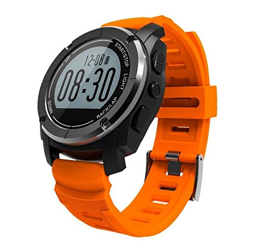 Zhicaikeji Smart Watch S928 Bluetooth Deportes al Aire Libre Reloj GPS Reloj Deportivo Profesional Bluetooth Reloj Inteligente (Color : Orange)