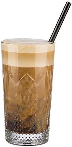 vasos largos vasos altos 6 unidades Buddy/´s Bar altura: 15,5 cm di/ámetro 8,5 cm Juego de 6 vasos de agua vasos de cristal transparente 490 ml