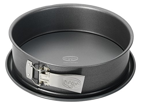 Dr. Oetker - Molde para tartas (24 cm de diámetro, sin fugas, redondo, de acero con revestimiento...