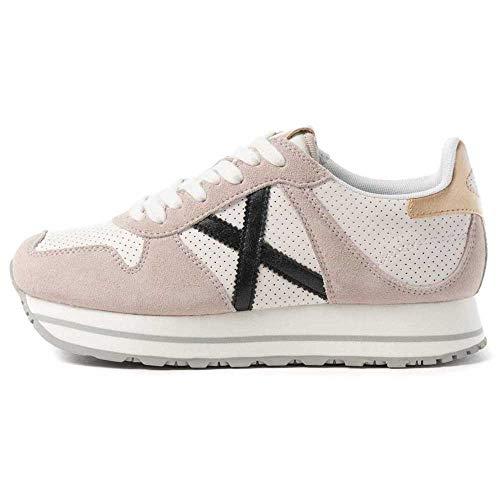 Scarpe Donna Munich Sneaker Massana Sky 142 Suede Bianco DS21MU04 8810142 38