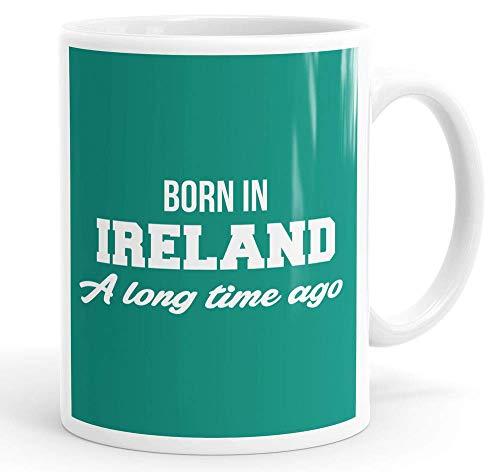 NA Nacido en Irlanda Hace Mucho Tiempo Taza de café Divertida Taza de té