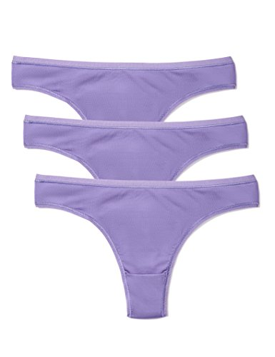 Amazon-Marke: Iris & Lilly Damen Tanga aus Mikrofaser, 3er-Pack, Violet (Veronica), M, Label: M