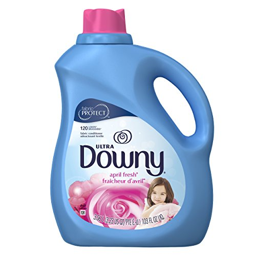 Downy Ultra Liquid Fabric Conditioner, April Fresh Scent, 103 Fl Oz (Pack of 4)