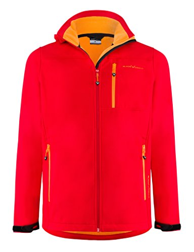 Black Crevice Herren Softshelljacke, Rot/Orange, XL = 52
