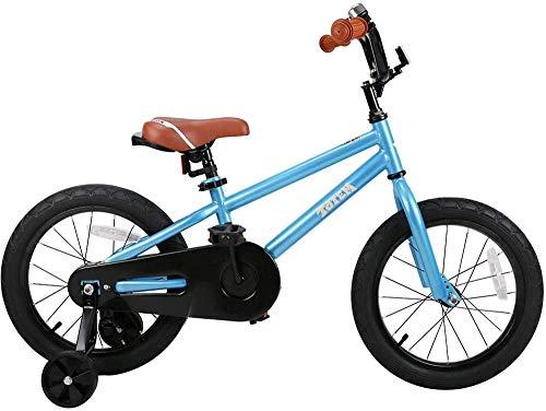 Pkfinrd 14 Inch Kids Bike DIY Stickers voor Jongens & Meisjes, Kinderfiets met Trainingswiel