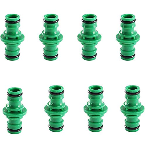 RENJIANFENG Conectores de Manguera de Doble Manguera Conectores de Extremo del Extensor Tubo de Manguera de jardín Conector de Grifo de Manguera Universal para jardinería Lavado de autos-10pcs