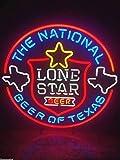 LeeQueen Creative Design Customized 24inx20in Lone Star Texas Custom Neon Light Sign Beer Bar Sign Excellent Handicraft SP34