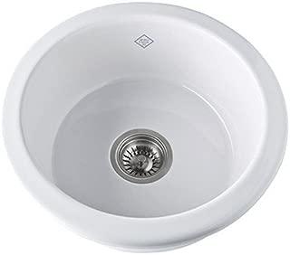 Rohl UM1807WH Shaws Original White Fireclay Bar / Prep Sink
