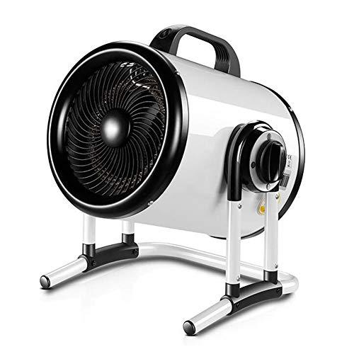 cjc Tragbar Industrie Raumheizkörper 3000W / 5000W Elektrischer Heizlüfter Mit Thermostat Gesteuert Zum Werkstatt Garage Gewächshaus (Color : 380V/5000W)