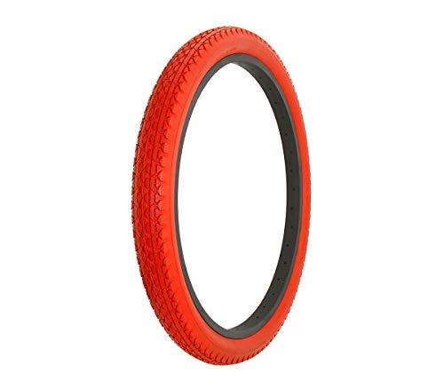 Alta Bicycle Tire Duro 24 x 2.125 Bike Tire Diamond Drizzle Style (Red)