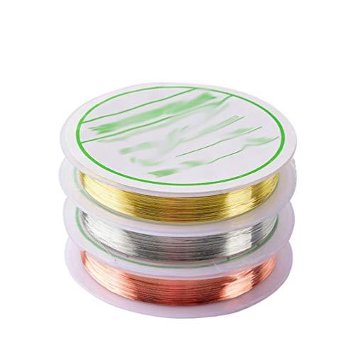 Minkissy ligne de bande à ongles rouleaux de bande pour les ornements de manucure nail art 3 rouleaux (or argent or rose)