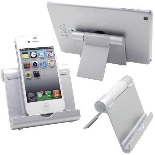 GadgetinBox - Aluminum Multi-Winkel Ständer Halter für Tablets, E-Reader und Smartphones: iPad Serien, Google Nexus 7 / 10 / 4, Samsung Galaxy Tab P5100 P3100 N8000, Sony Xperia Tablet Z S usw (Aluminium Multi Winkel Ständer)