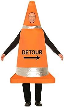 Forum Novelties Men s Traffic Cone Costume Orange One Size