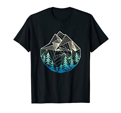 Minimale Berge Geometrie Outdoor Wandern T-Shirt