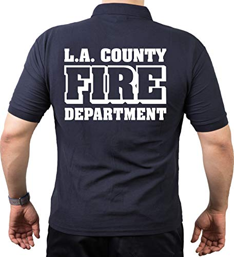 Polo Navy L.A. County Fire Department ignifuge. 3XL bleu marine