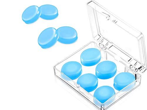 Silikon Ohrstöpsel,3 Paare Formbar Silikon Ohrstöpsel Wasserdichte Schwimmen Geräuschunterdrückende Ohrstöpsel für Erwachsene Kinder Wachs Ohrstöpsel zum Schlafen Schnarchen(blau).